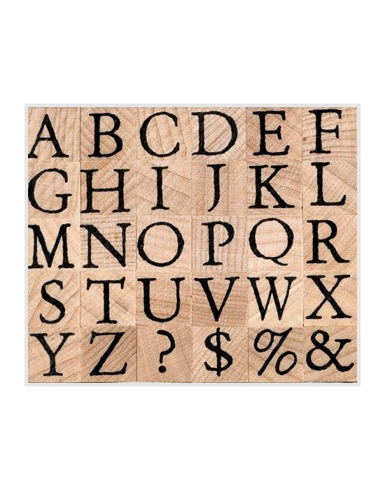 Serif Alphabet lowercase letters stamps