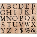 Serif Alphabet uppercase letters stamps