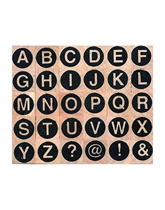 Tampons Alphabet sans serif majuscules