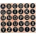 Alphabet sans serif Uppercase letters stamps
