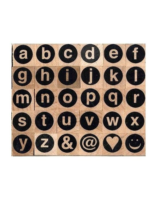 Tampons Alphabet minuscules sans serif
