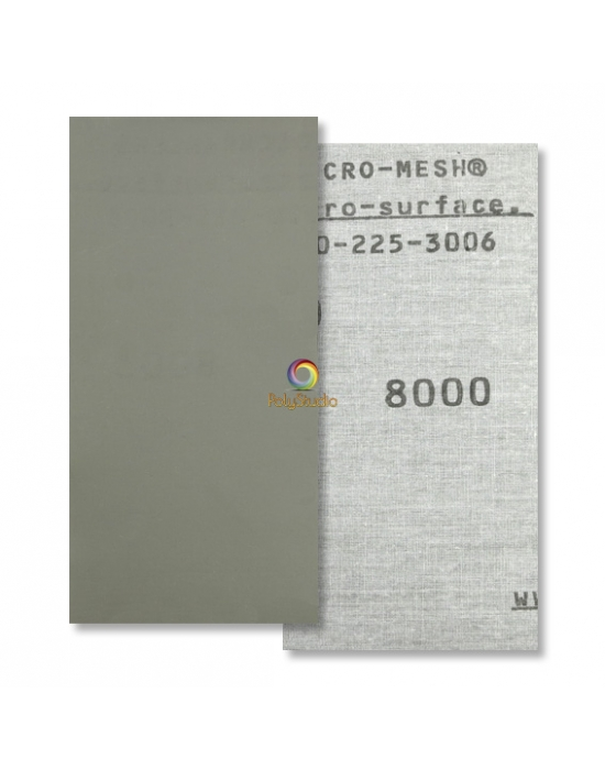 Toile abrasive à l'eau Micro-Mesh grain 8000