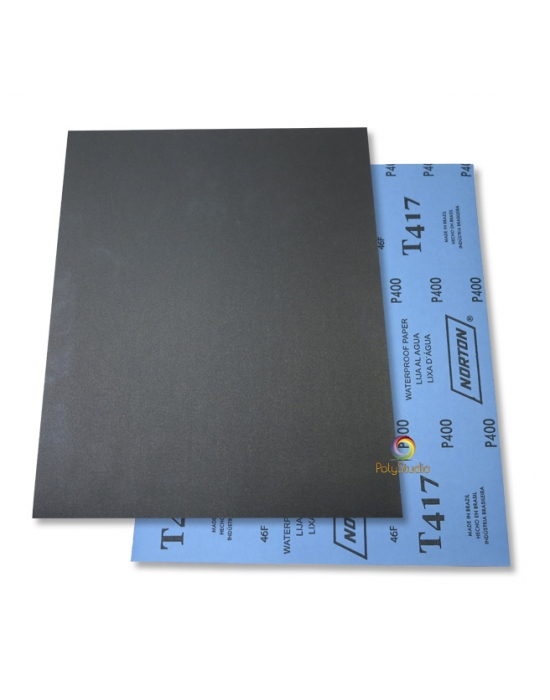5 Waterflex sanding paper sheets grit 400