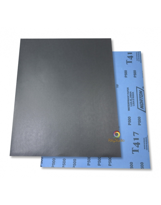5 Waterflex sanding paper sheets grit 500