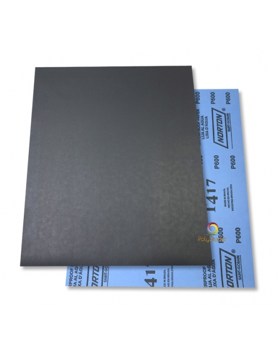 2 Waterflex sanding paper sheets grit 600