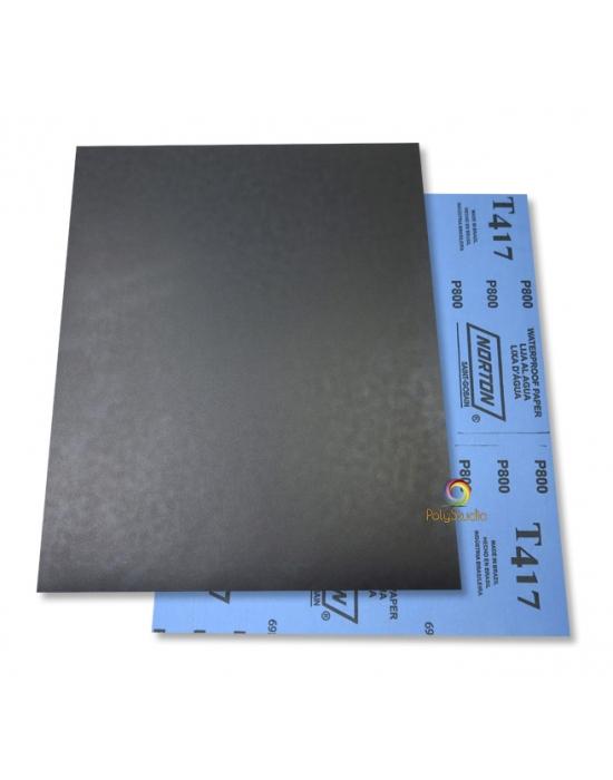 2 Waterflex sanding paper sheets grit 800