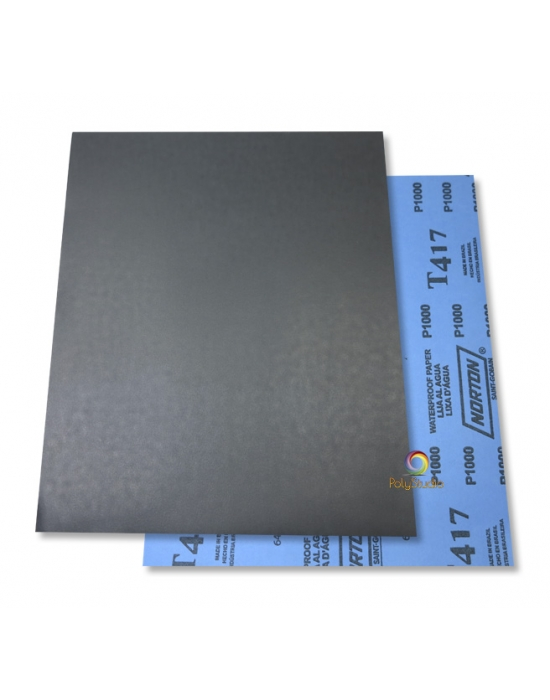 2 Waterflex sanding paper sheets grit 1000