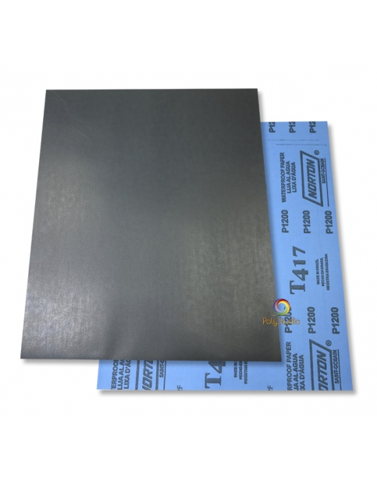 5 Waterflex sanding paper sheets grit 1200