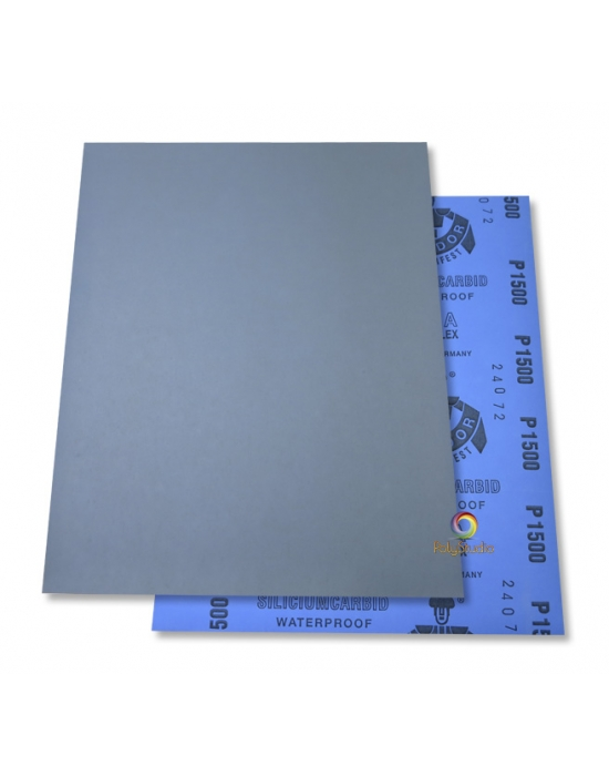 2 Waterflex sanding paper sheets grit 1500