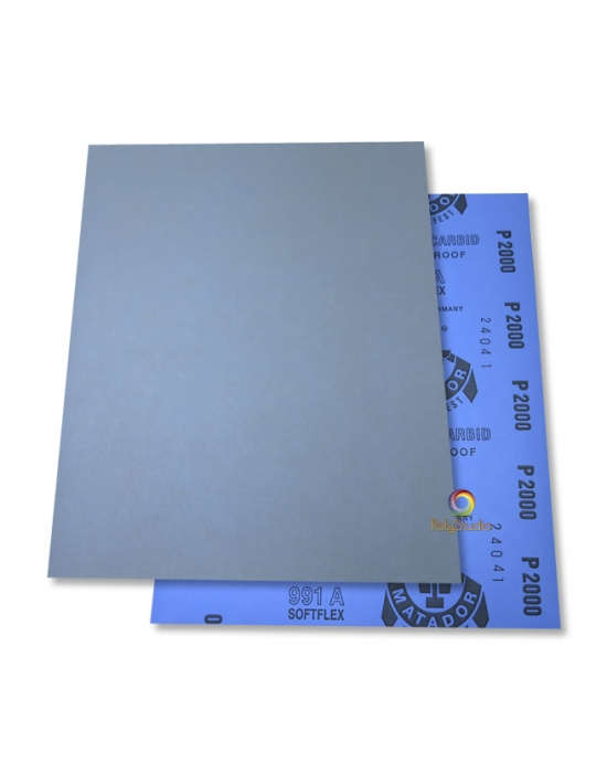 5 Waterflex sanding paper sheets grit 2000