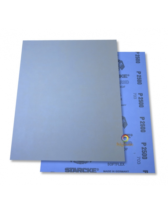 5 Waterflex sanding paper sheets grit 2500