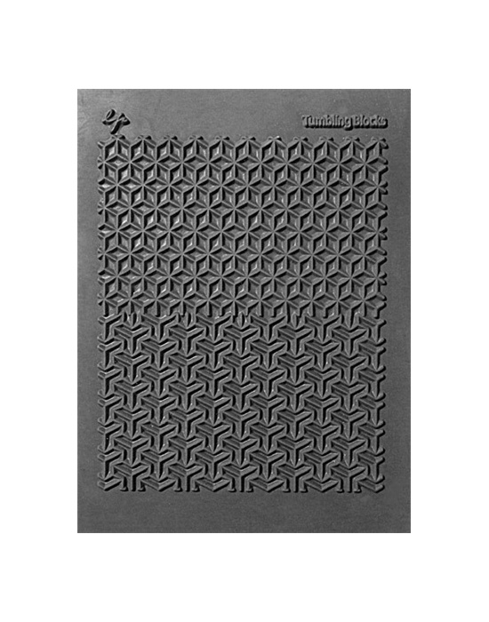 L. Pavelka Texture stamp Tumbling Blocks