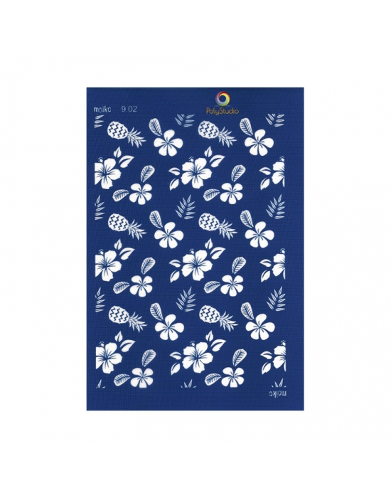 Moïko silk screen Hibiscus & Pineapple
