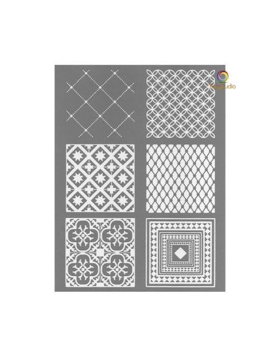 Graine Créative silk screen French tiles