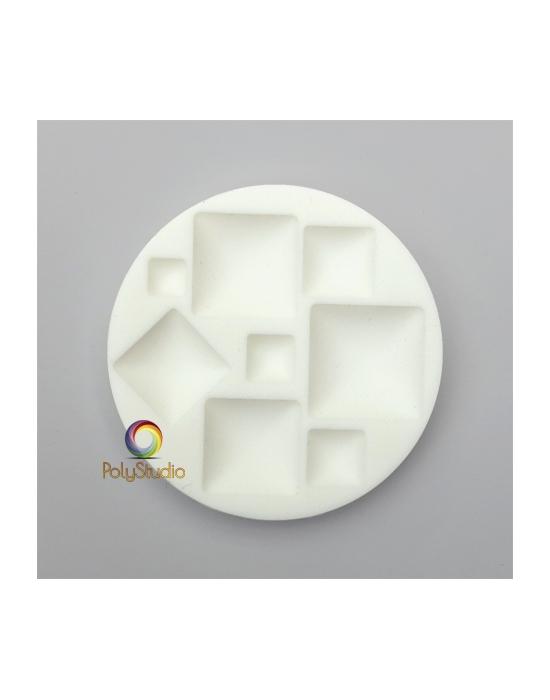 Moule silicone Cabochons carrés
