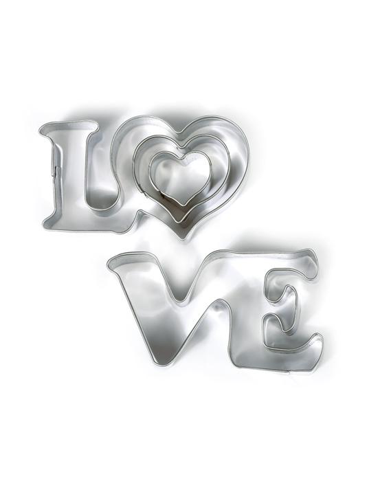 3 LOVE & hearts cutters
