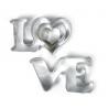 3 emporte-pièces LOVE & cœurs
