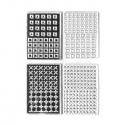 M. Muir texture stamps Squares &Crosses