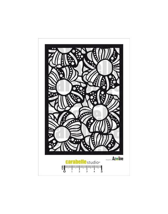 Flowers by Azoline Stencil Carabelle