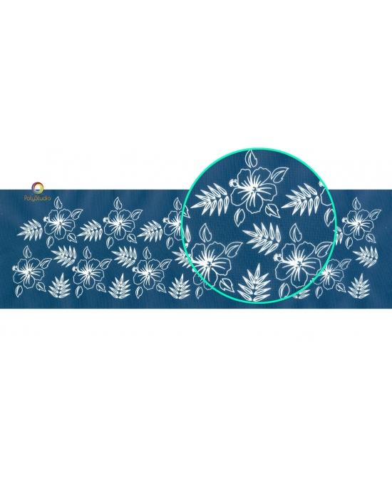 Moïko silk screen bracelet Hibiscus