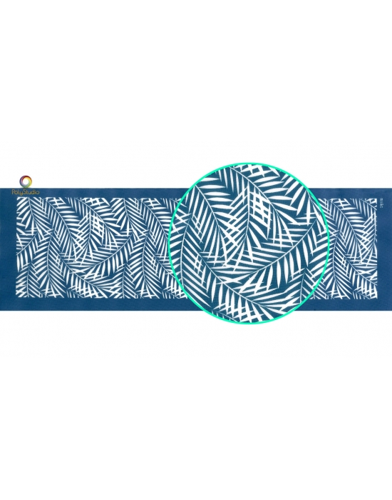 Moïko silk screen Bangle Tropical leaves
