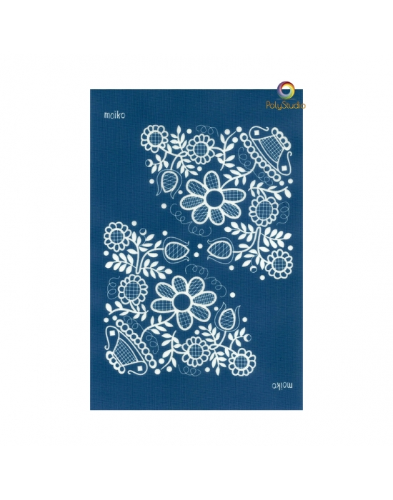 Moïko silk screen Flowers lace