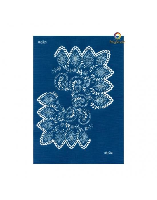 Moïko silk screen Slavic lace