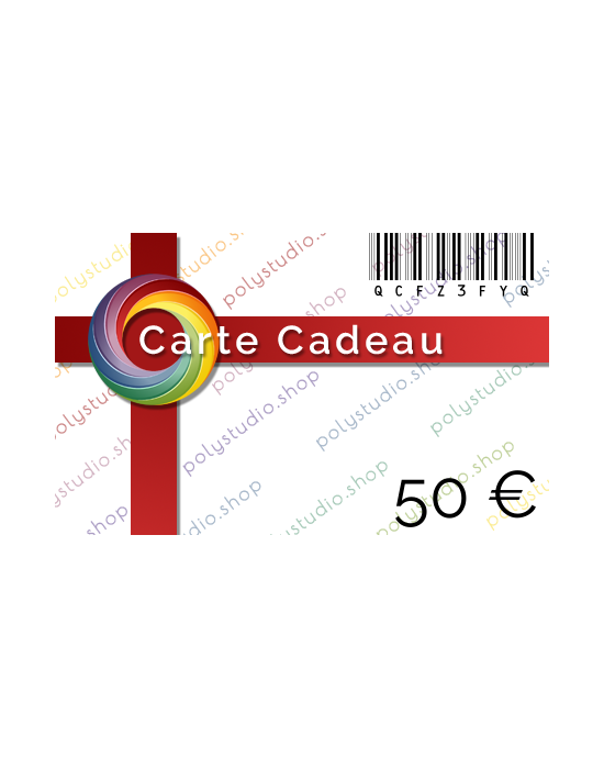 Carte Cadeau PolyStudio 50 €