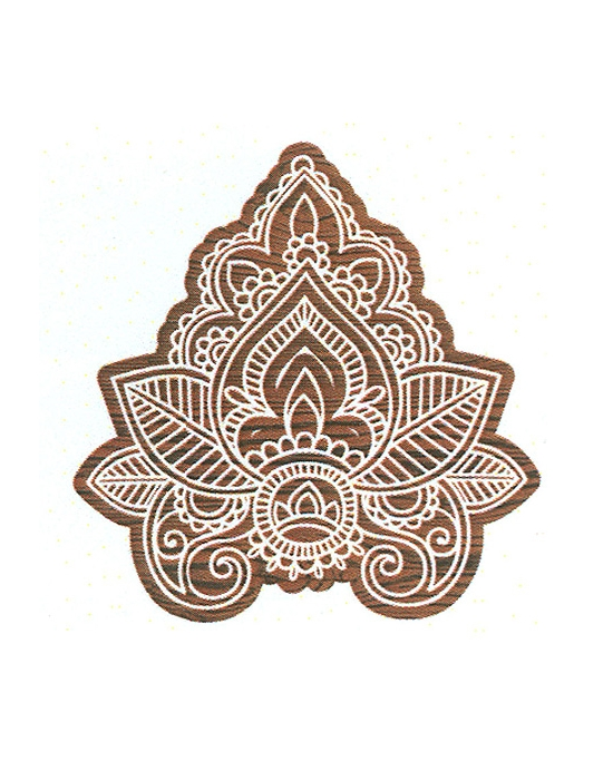 Indian Leaf large batik stamp
