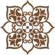 Floral petit tampon batik