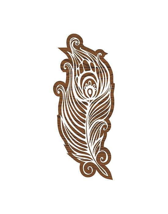 Plume tampon batik moyen