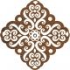 Baroque large batik stamp