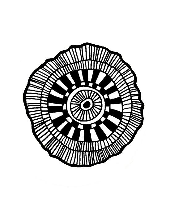 Ombreline Cockade Mini stamp