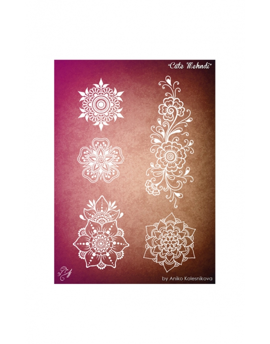 Cute Mehndi Texture stamp