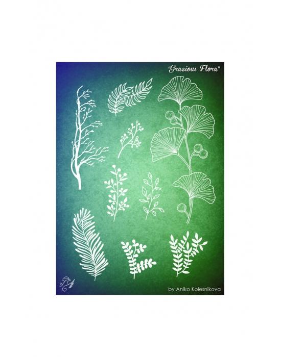 Gracious Flora Texture stamp