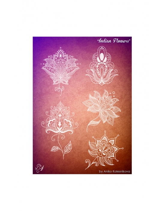 Indian Flowers Texture stamp