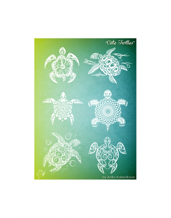 Cute Turtles Texture stamp