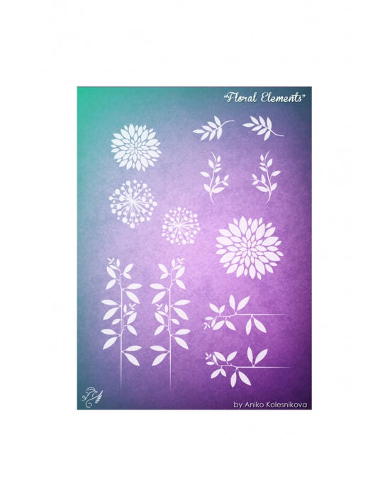 Floral Elements Texture stamp