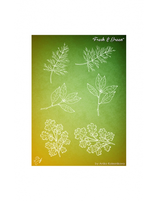 Fresh & Green Texture stamp