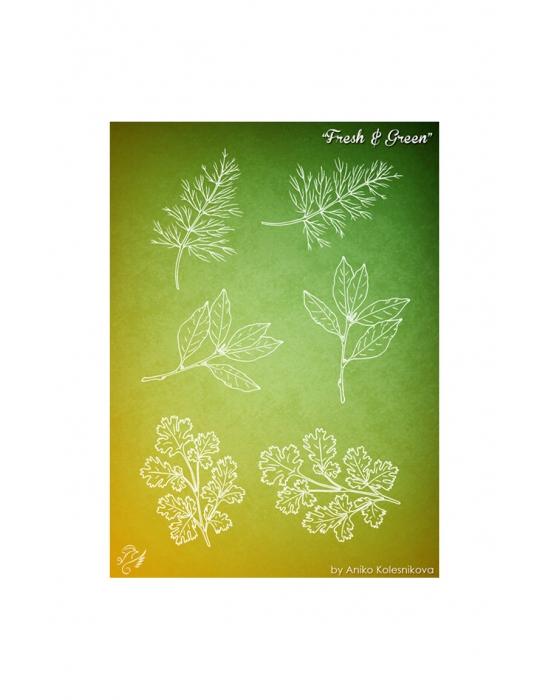 Fresh & Green Texture stamp