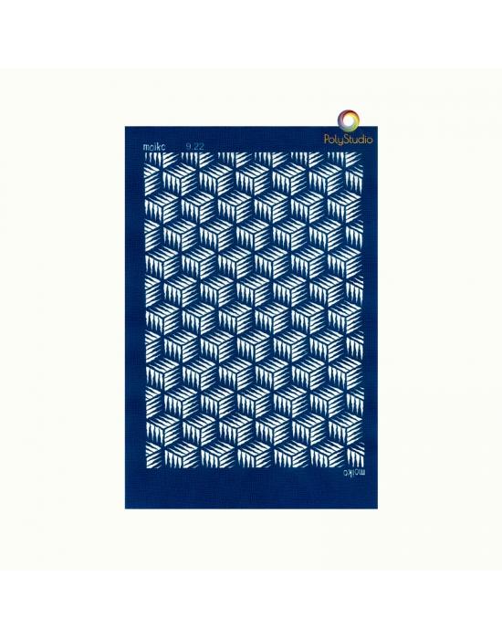 Moïko silk screen Cubism