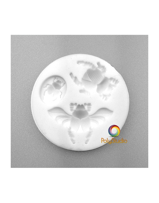 Silicon bakeable mold Insects