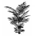 Wood stamp Palms