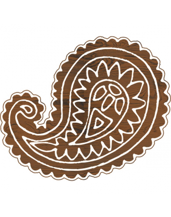 Paisley large batik stamp