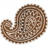 Paisley large batik stamp