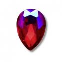 5 mini joyaux goutte Rouge