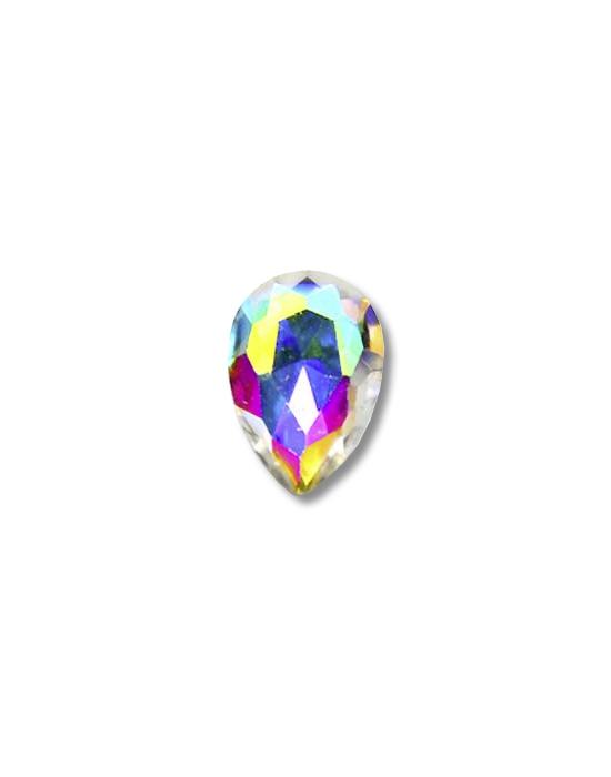 5 mini joyaux goutte Irisés multicolores