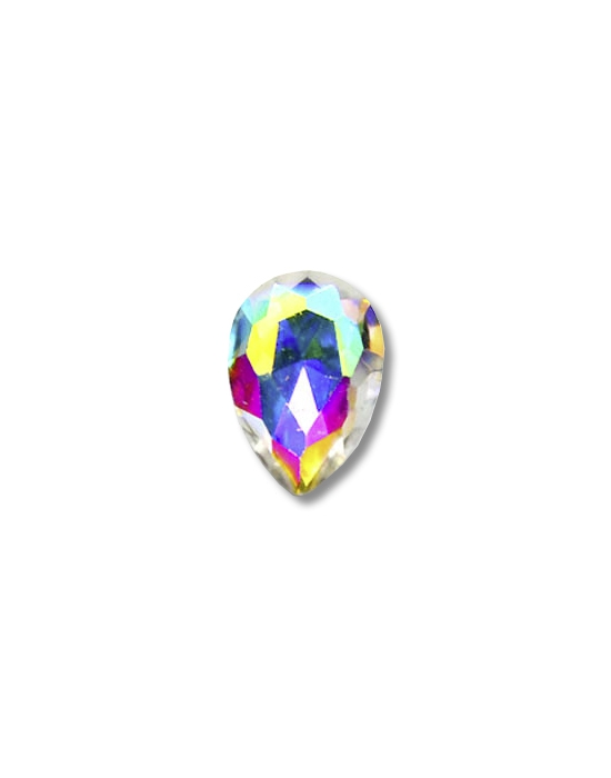 5 Multicolor Iridescent drop mini jewels