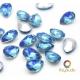 5 mini joyaux goutte Bleus