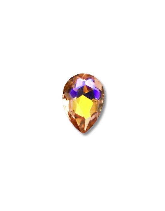 5 mini joyaux goutte Ambre